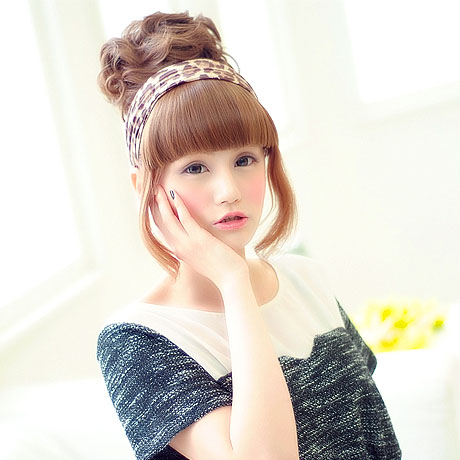 All nine colors of girly curl dumpling wig point wig [wgt006] heat resistance dumpling point wig extension wig WIG || [宅送] ||