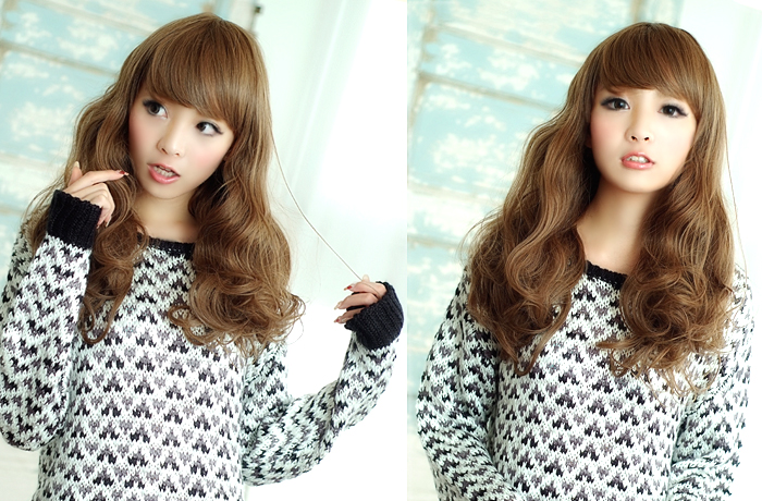 Wigs Extensions AQUADOLL | Natural Medium Wave wig [wg004]