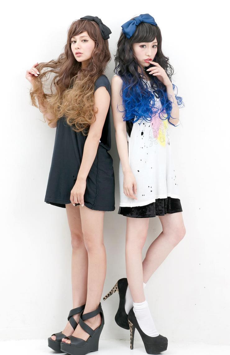 ウィッグロンググラデプラスインパクト ☆ グラデカラーロングウィッグ[wg101]costume play wig net heat resistance wig raven-black hair full wig wig extension AQUADOLL aqua Dole || belonging to [宅送] ||