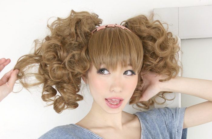 Wig long / extension / point extension || Simple clip candy short pony wig [wgt043] heat resistance extension wig wig ponytail long wig AQUADOLL aqua Dole [宅送] ||