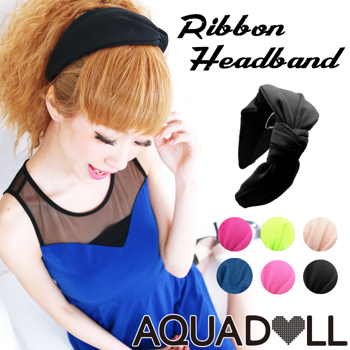 Simple ribbon headband [hac001] heaakuse hair accessories wedding 3 party head axe ornament black ribbon headband | |