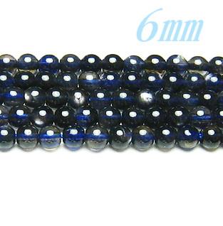 天然石ビーズ スターアイオライトAA 6.0mm 連/約40cm