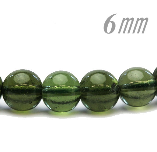 It has been judged 6 0 millimeters of meteorite beads moldavite one / of  high quality
