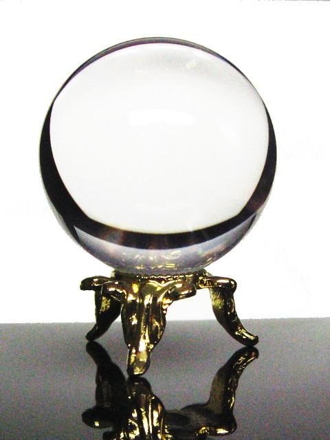 天然石鉱物 純透明 水晶丸玉 クリアーAA  30~32mm玉