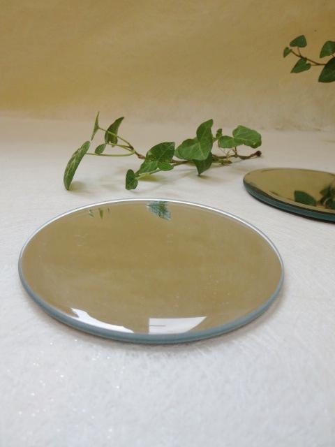 ハーバリウムやフラワーアレンジをお洒落に演出するミラーコースター鏡効果でお洒落に 在庫一掃 雑貨 小物 ハーバリウム プリザーブドフラワー ミラーコースター 100%品質保証! S 鏡 丸