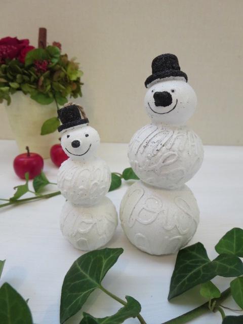 スノーマン大小2個セット販売 手のひらサイズのスノーマン クリスマス クリスマス雑貨 スノーマン ギフト 購入 商品追加値下げ在庫復活 お祝い インテリア お誕生日 雪だるま