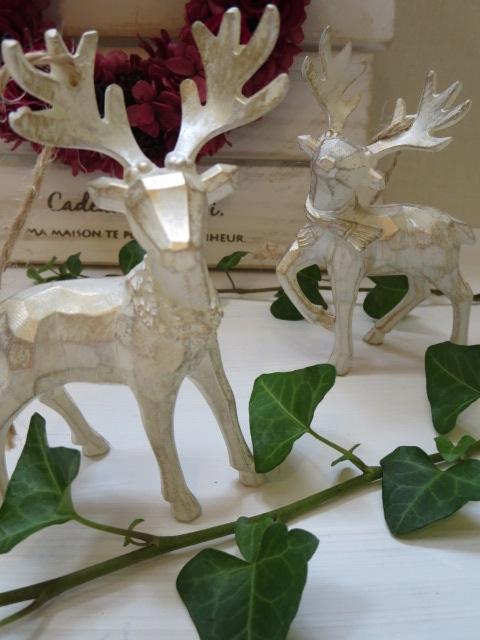 トナカイのオーナメント 新着セール ツリーに飾っても 置いても素敵なオブジェ クリスマス クリスマス雑貨 オブジェ スーパーセール ギフト ツリー飾り オーナメント トナカイ