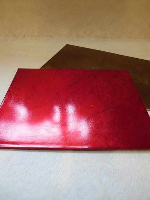 長方形の敷物 和風アレンジのに敷くと一段と華やかななります プリザーブドフラワー ギフト 送料無料 新品 お買得 ゴールドの敷物 赤い敷物