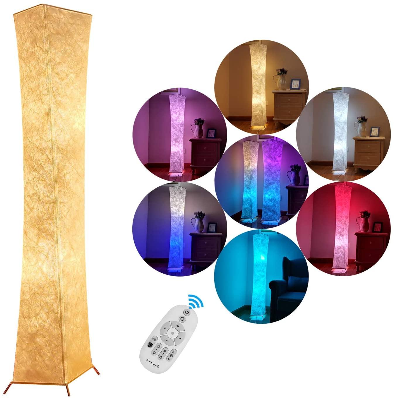 360°空間を優しく照らすスティック型フロアライト 調光 調色 リモコン付 スタンドライト フロアランプ LED 間接照明 電気スタンド ライトスタンド 照明器具 おしゃれ 北欧 15%OFF スーパーセール フロアスタンド 調光と色のロマンチックな楽しい雰囲 フロアライト 居間用 プレゼント LVYUAN 和風 誕生日 お祝い 無線式リモコン操作 RGB電球 132X26CM LED電球2個 調光調色 創意