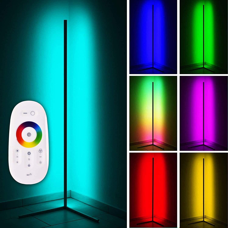 リモコンで操作できるバータイプのLEDフロアライト おしゃれ 間接照明 360°空間を優しく照らすスティック型フロアライト 15%OFF LEDフロアライト フロアランプ フロアスタンド リモコン付 RGB 変色 調光 居間用 寝室 無段階調節 ギフ_包装 高さ142cm 床置き LVYUAN 調色 北欧 和室 和風 玄関 オンラインショッピング