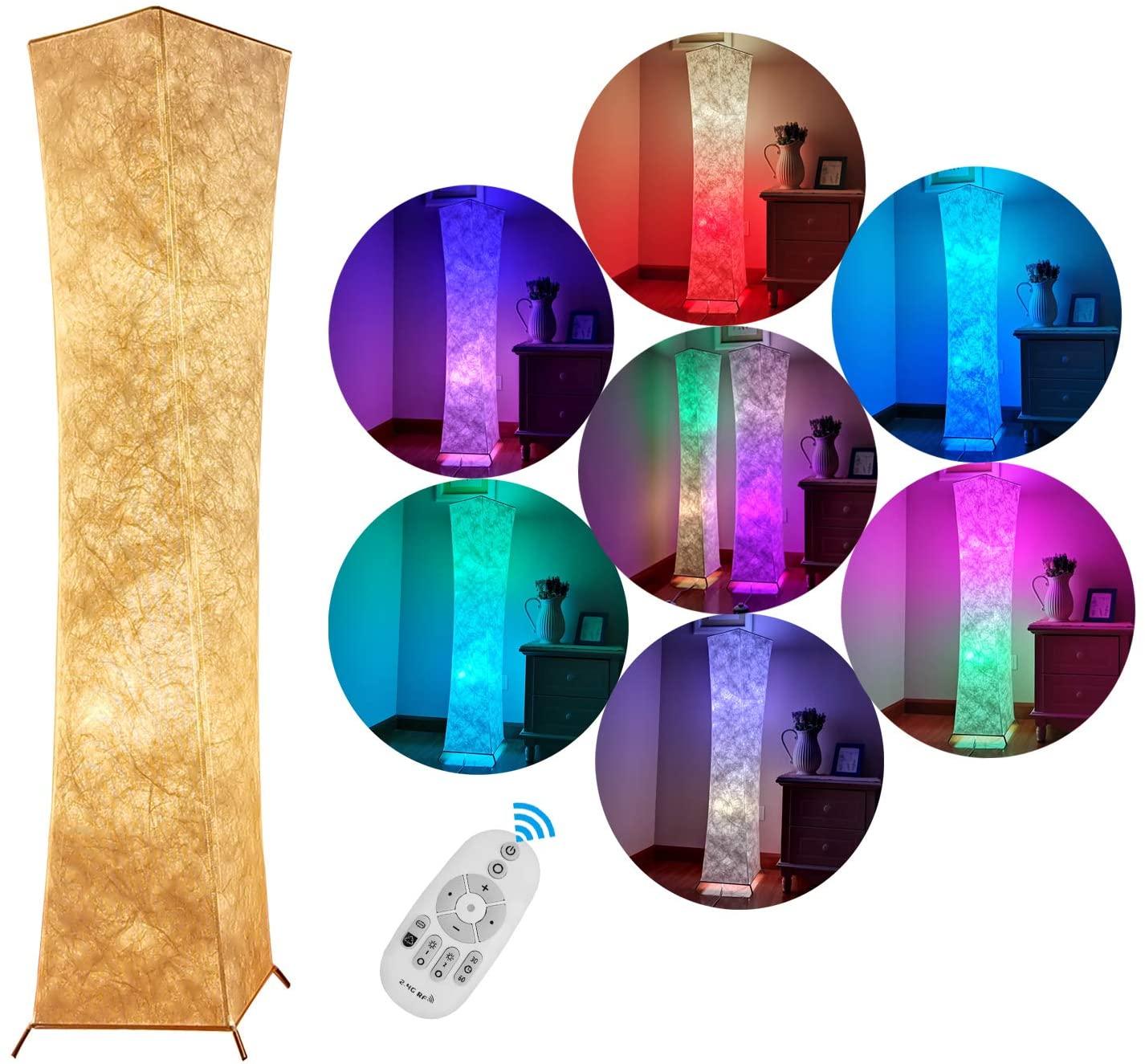 送料無料 スタンドライト 和室 照明器具 間接照明 リモコン操作で調光 調色 日本製 生地 15%OFF 迅速な対応で商品をお届け致します フロアランプ LED 純和風テイスト シンプル リビング 北欧 高さ132cm LVYUAN リョクエン RGB電球 スタンド照明 和風 今だけ限定15%OFFクーポン発行中 26cm×132cm+2個のLED スタンド