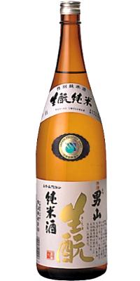 男山纯朴的基正宗美国酒1.8L<拜年日本清酒礼物礼物Gift礼品酒酒1升瓶>