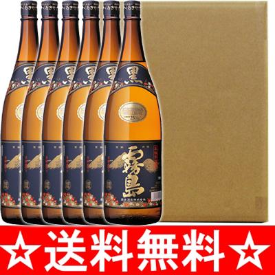 【送料無料】【同梱不可】25°黒霧島(芋焼酎) 瓶 1.8L×6本(1ケース)【ダンボール箱で発送いたします】<焼酎 1800ml 6本 お酒>