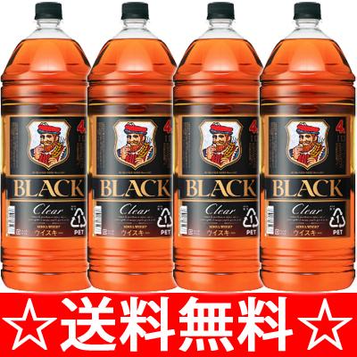 【送料無料】【同梱不可】ニッカ ブラックニッカ クリア 4L×4本(1ケース)<ウイスキー ウィスキー ギフト プレゼント Gift 贈答品 内祝い お返し お酒>