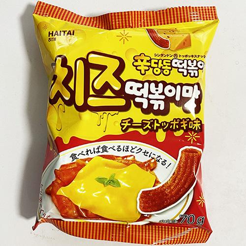大決算セール 送料無料 HAITAI 辛ダンドン チーズ トッポギ 味 70g 料理 お菓子 食材 韓国 x 2020春夏新作 5袋 食品
