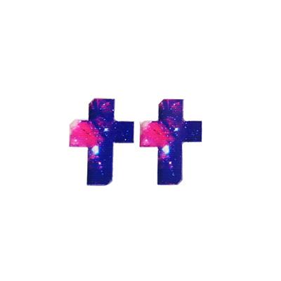 プラバンチャーム クロス 2個セット【メール便対応】【ハンドメイドパーツ ビーズ】