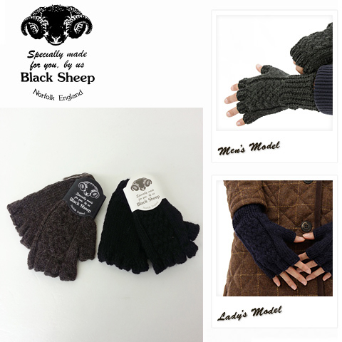 c8037a010 Black Sheep - black sheep - hand net cable knit gloves (fingerless gloves)  ...