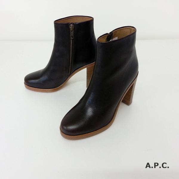 【50%OFF】A.P.C. - アーペーセー -Lady's レザー Zip Up BOOTS【国内正規品・わけあり】
