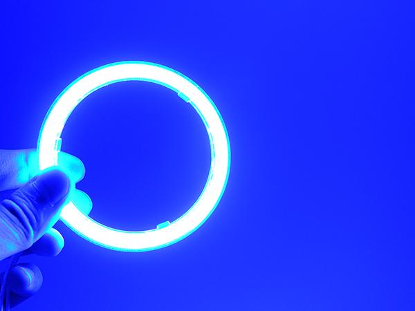 最新高輝度 COBイカリング 60Φ~110Φ選択 2本入り 青 ブルー【2334-blue】