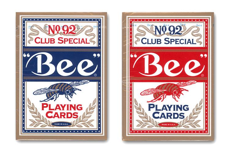訳あり商品 世界中のカジノで使用されている最高峰プレイングカード トランプ 格安 価格でご提供いたします Bee ビー ネコポス対応可 ≪ポーカーサイズ≫ カード