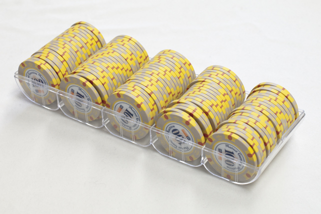 【カジノ用品】3色ディーキャルチップ/$100 100枚セット【訳あり品】【送料無料】