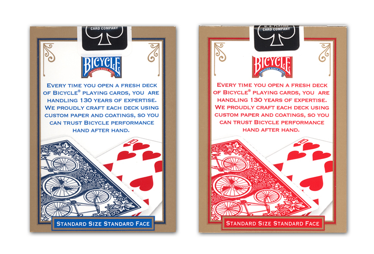 Red Playing Cards New Deck Bicycle League Back