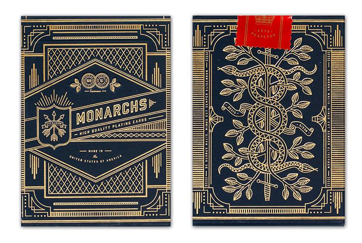 【トランプ】 MONARCH  NAVY ≪ モナーク ネイビー ≫【ネコポス対応可】【Theory11】 <BR>