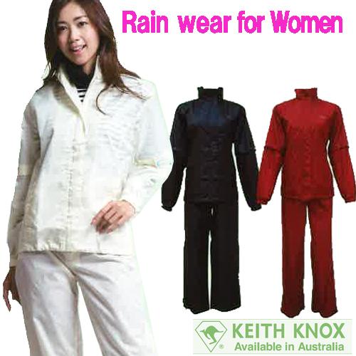 衿裏フード収納 袖の取り外し簡単 背中部のベンチレーションにより湿気を放出 パンツ裾部にファスナー マジックテープ装備 5☆大好評 レインウェア ハイクオリティ KK-6100AL レディース カッパ 女性用 雨着 レインスーツ