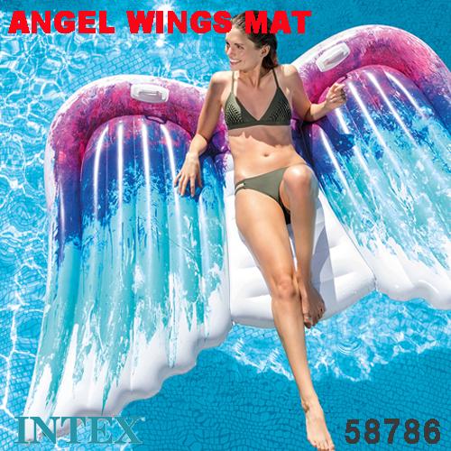 海に プールに大活躍 インスタ映え間違いなし 天使の羽 お安くなってます 浮き輪 信頼 フロート インテックス intex 日本正規品 メーカー公式 エンジェルウイングマット マット 251×160cm 58786