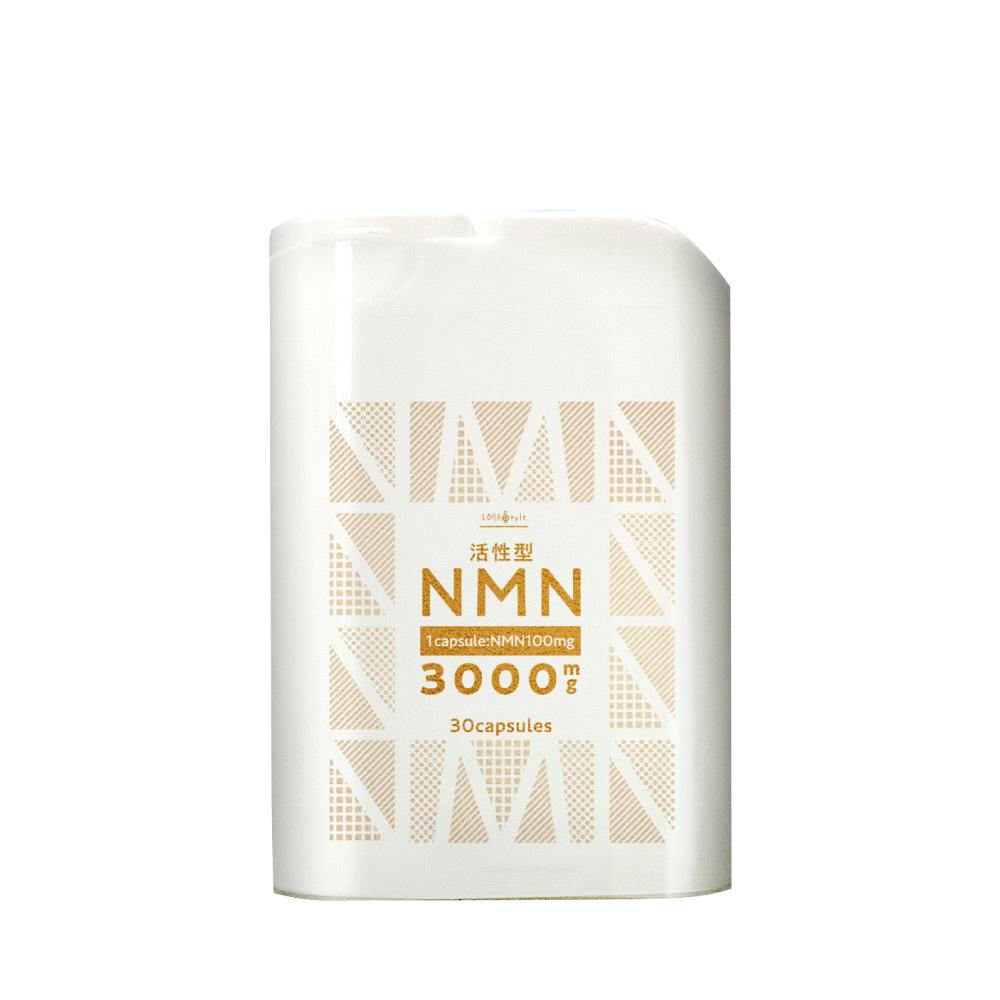 飲む美容液NMN3個 年齢と共に失われる成分「NMN」「αリポ酸」「低分子ヒアルロン酸」「安定型ビタミンC」配合。