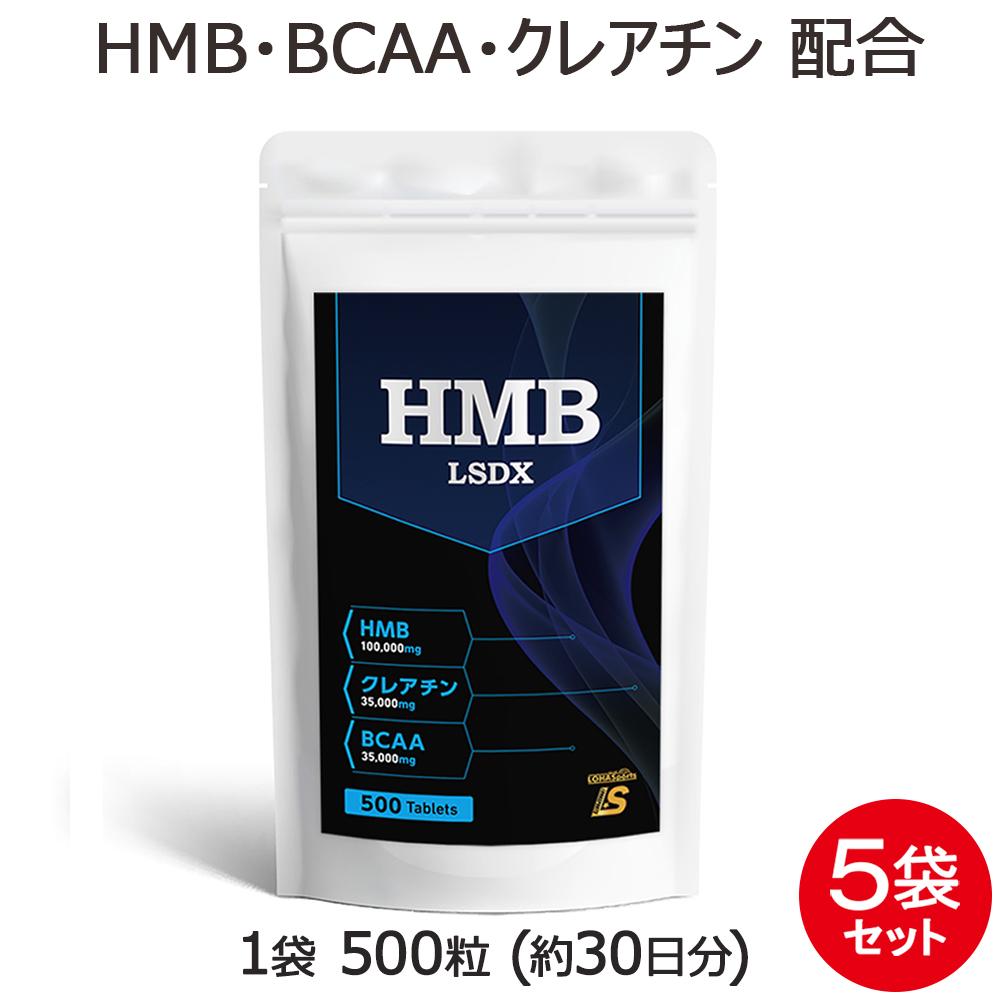 HMB サプリメント タブレット LSDX 5袋 セット 2500粒 約5ヶ月分BCAA クレアチン アルギニン シトルリン 配合されたワンランク上の HMB サプリ が登場 [M便 1/1]