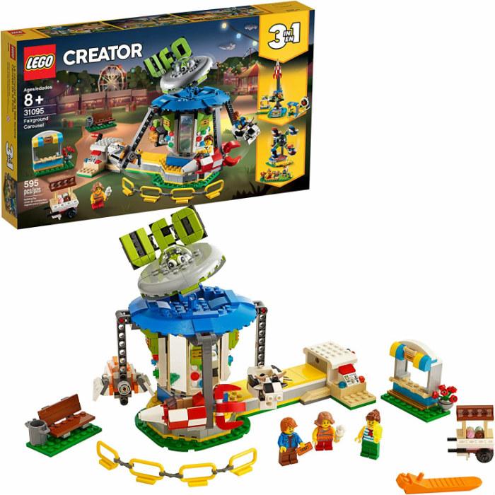 レゴ クリエイター 遊園地のスペースライド 31095 LEGO Creator 3in1 Fairground Carousel Building Kit 【レゴブロック おもちゃ 鑑賞 コレクション プレゼント 誕生日 贈り物 ご褒美】 並行輸入品