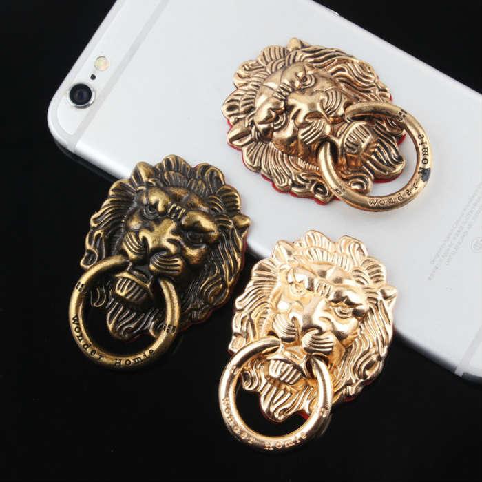メール便送料無料 あなたの大事なスマホやタブレットを使用中に落さない為の必需品 ブランド品 フィンガーリング ライオンデザイン全3色 スマホ タブレット iphone 売却