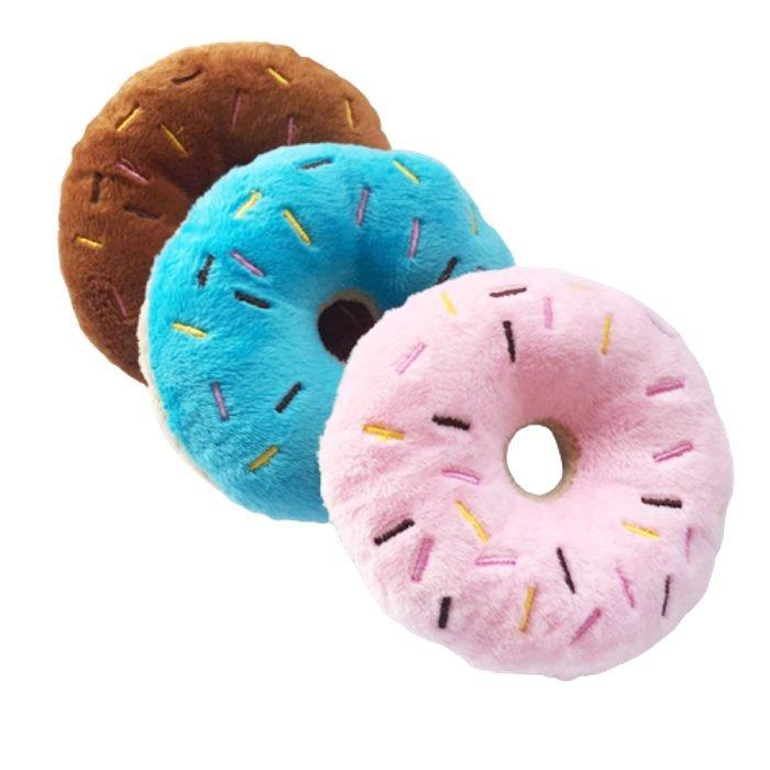 メール便送料無料 おいしそう 噛んでびっくり ワンちゃん 噛みおもちゃ ドーナツ 全3色 音が鳴る やわらかい ペット 訳あり品送料無料 オモチャ ファクトリーアウトレット ペットグッズ 中型犬 フードトイ 音がなる PPコットン ベルベット 犬用おもちゃ 小型犬