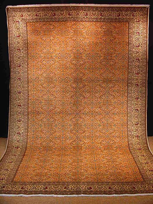 細やかで美しい植物デザイン!お部屋が贅沢なサロンへと早変わりカイセリ産 手織り絨毯 ケッレサイズ