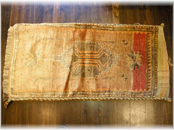 トルコ シヴァス産OLD手織りじゅうたん&キリムチュバル(袋)
