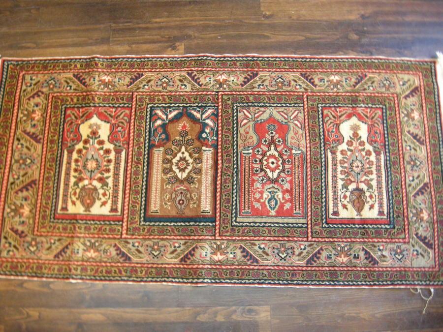 オールドトルコ 絨毯 カイセリ産 サフ 171x83cm