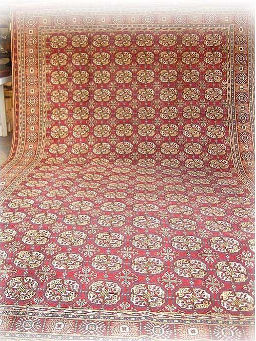 トルコ絨毯 ラグ 極上カイセリ産じゅうたん 376x253cm【決算セール】