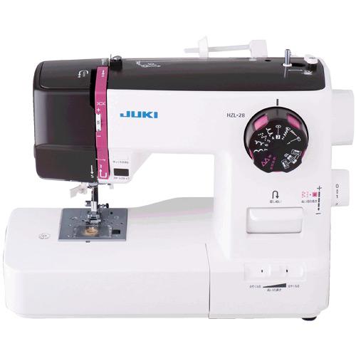 【展示品】JUKI HZL-28 電子ミシン (ジューキ) [程度:良好][外箱ナシ(他の箱で代用)][梱包材ナシ(エアパッキンで代用)]