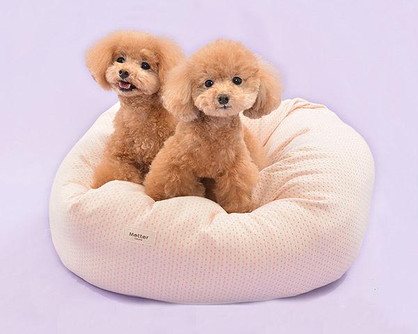 犬 ベッド 草木染ドット柄ドーナツタイプ Sサイズ(替カバーのみ) オーガニックコットン