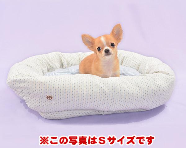 犬 ベッド 草木染ドット柄スクエアベッド Lサイズ(替カバーのみ) オーガニックコットン
