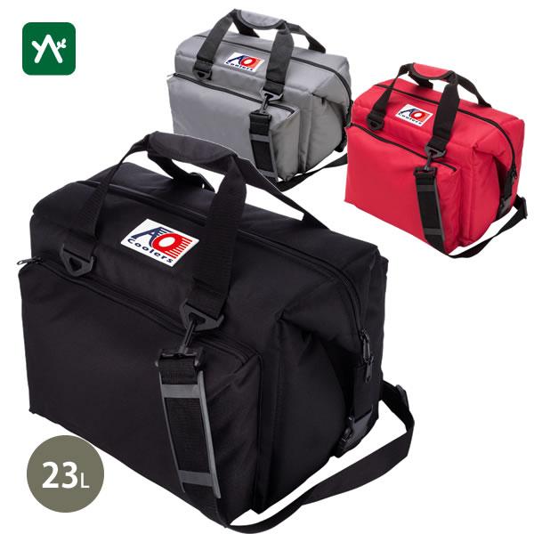 エーオークーラー AO Coolers 24パック キャンバス ソフトクーラー デラックス AO24DX [普段使い 保冷バッグ]