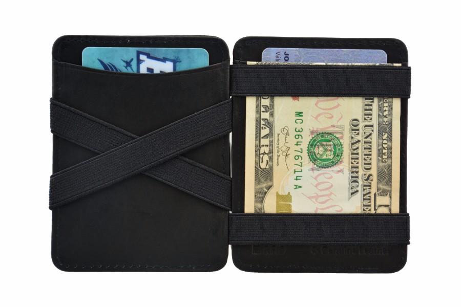 Hunterson マジックウォレット 魔法の財布 日本紙幣対応 ブラック