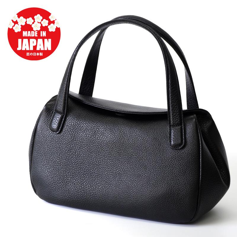 フォーマルバッグ 日本製 本革 レディース ブラック 軽い 革 冠婚葬祭 軽量 レザー