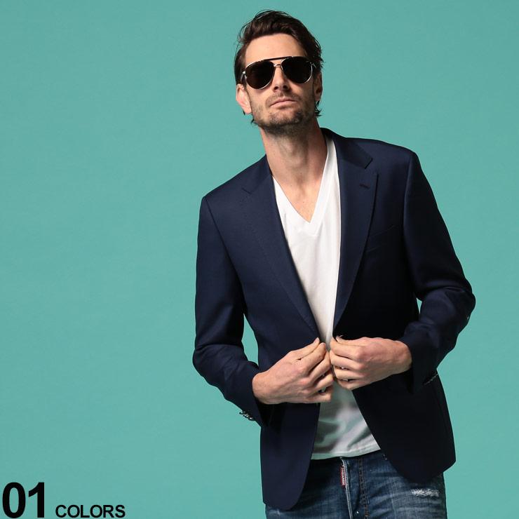 HUGO BOSS (ヒューゴ ボス) ウール100% シングル 2つボタン ブレザーブランド メンズ 男性 アウター ジャケット テーラード 紺ブレ ウール ブレザー シンプル フォーマル ビジカジ HBJEWEL10224752