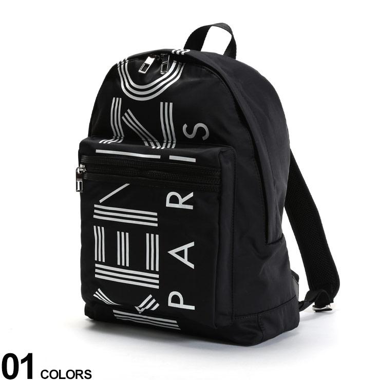 KENZO (ケンゾー) ナイロン BIGロゴプリント バックパックブランド メンズ 男性 バッグ 鞄 リュック バックパック ナイロン プリント ロゴ ストリート KZF855SF213F24