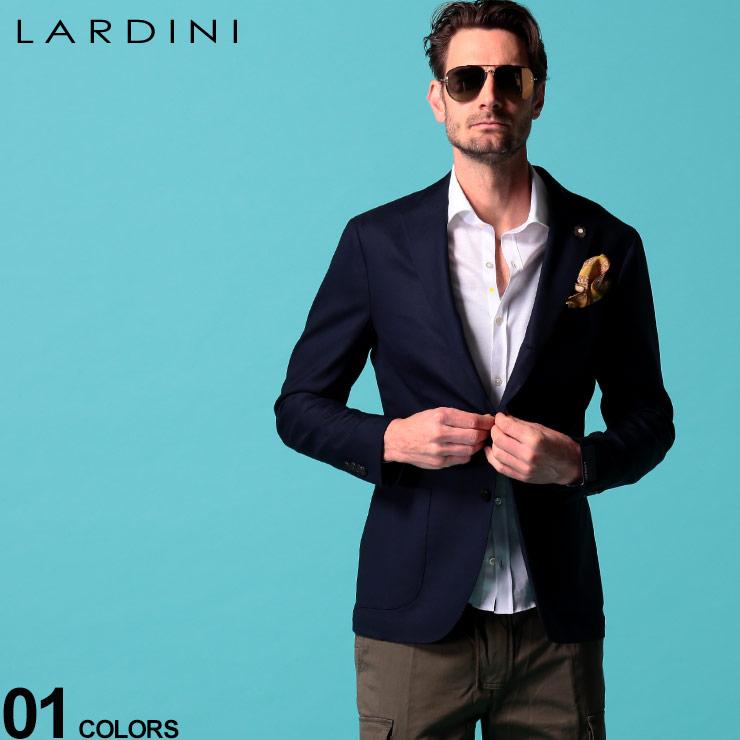 LARDINI ラルディーニ ブランド メンズ 男性 18%OFF アウター ジャケット ブレザー 紺ブレ 紳士 ウール フォーマル LDI528AERP54594 ウール混 シングル 無地 ビジネス ブートニエール付き テーラード セール特価品 ブレザーブランド 春物 2ツ釦