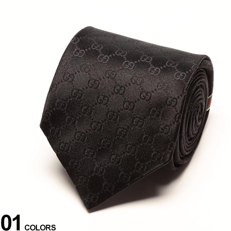 GUCCI (グッチ) シルク100% シャドーGGロゴ ネクタイ BLACKブランド メンズ 男性 紳士 ネクタイ タイ シルク ビジネス フォーマル ギフト プレゼント GC4565201000