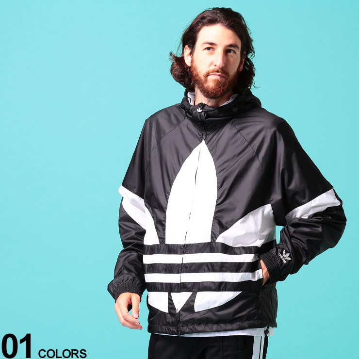 adidas originals (アディダス オリジナルス) BIGロゴ 裏メッシュ フルジップ 長袖 ブルゾンブランド メンズ 男性 アウター ジャケット ブルゾン スポーツ パーカー トレーニング ナイロンジャケット ADFM3757