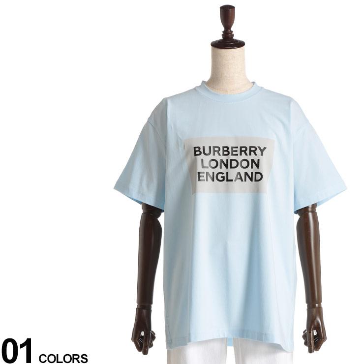 トップス クルー コットン プリントT ストレッチコットン BBL8026475 Tシャツ 半袖 レディース Tシャツ ロゴプリント 春 オーバーサイズ SAXEブランド (バーバリー) 夏 BURBERRY ストレッチ 半袖